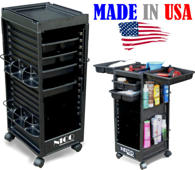 SALON ROLL-ABOUT TROLLEY UTILITY CART N20 NON-LOCKABLE MADE IN USA BY DINA MERI