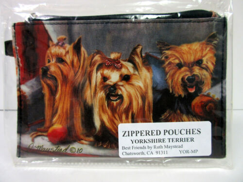 New Yorkshire Terrier Dog Zippered Pouch Terriers Dogs by Ruth Maystead