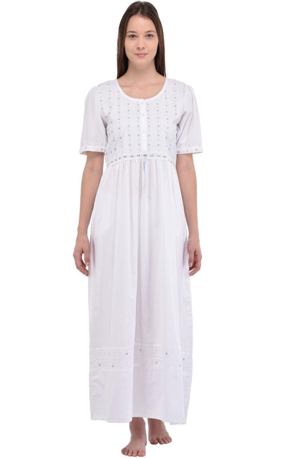 Ladies Classic Short Sleeve Nightdress   Cotton Lane