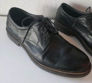 johnston and murphy mens black leather oxford shoes sz 10