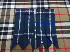 NEW SCOTTISH KILT FLASHES BLUE DOUGLAS TARTAN/SCOTTISH KILT HOSE FLASHES