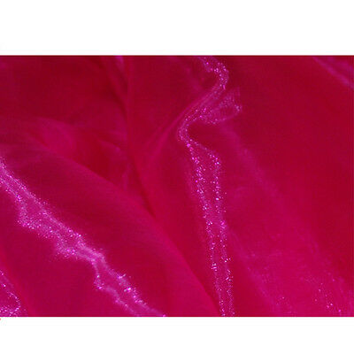 SATIN ORGANZA FABRIC Voile per 1m METRE Curtain & Wedding Material 150cm Wide