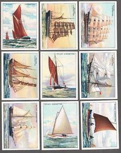 1929-Wills-s-Cigarettes-Rigs-of-Ships-Large-Tobacco-Cards-Complete-Set-of-25