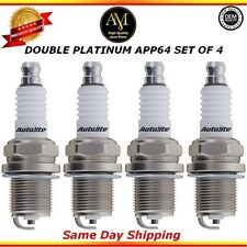 Double Platinum Spark Plugs APP64 Set of 4 For 94/06 Toyota Honda Hyundai 3.0L