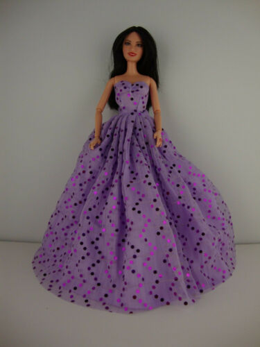 A Set of 2 Ball Gowns Called Crazy About Purple Made to Fit the Barbie Doll