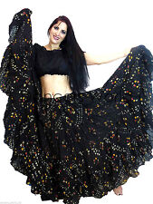 25 Yard Skirt Gypsy Tribal Cotton Skirts Belly Dance Dancing ATS 2 Color  2pc