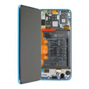 D-039-origine-Huawei-p30-Lite-ecran-LCD-avec-cadre-et-Batterie-mar-lx1m-Bleu-Blue