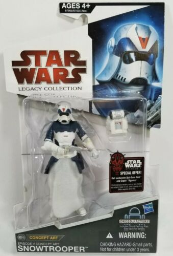 Star Wars The Legacy Collection Concept Art Figure Snowtrooper BD48