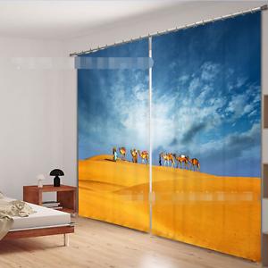 3D desierto camellos 3 Cortinas de impresión de cortina de foto Blockout Cortinas Ventana De Tela