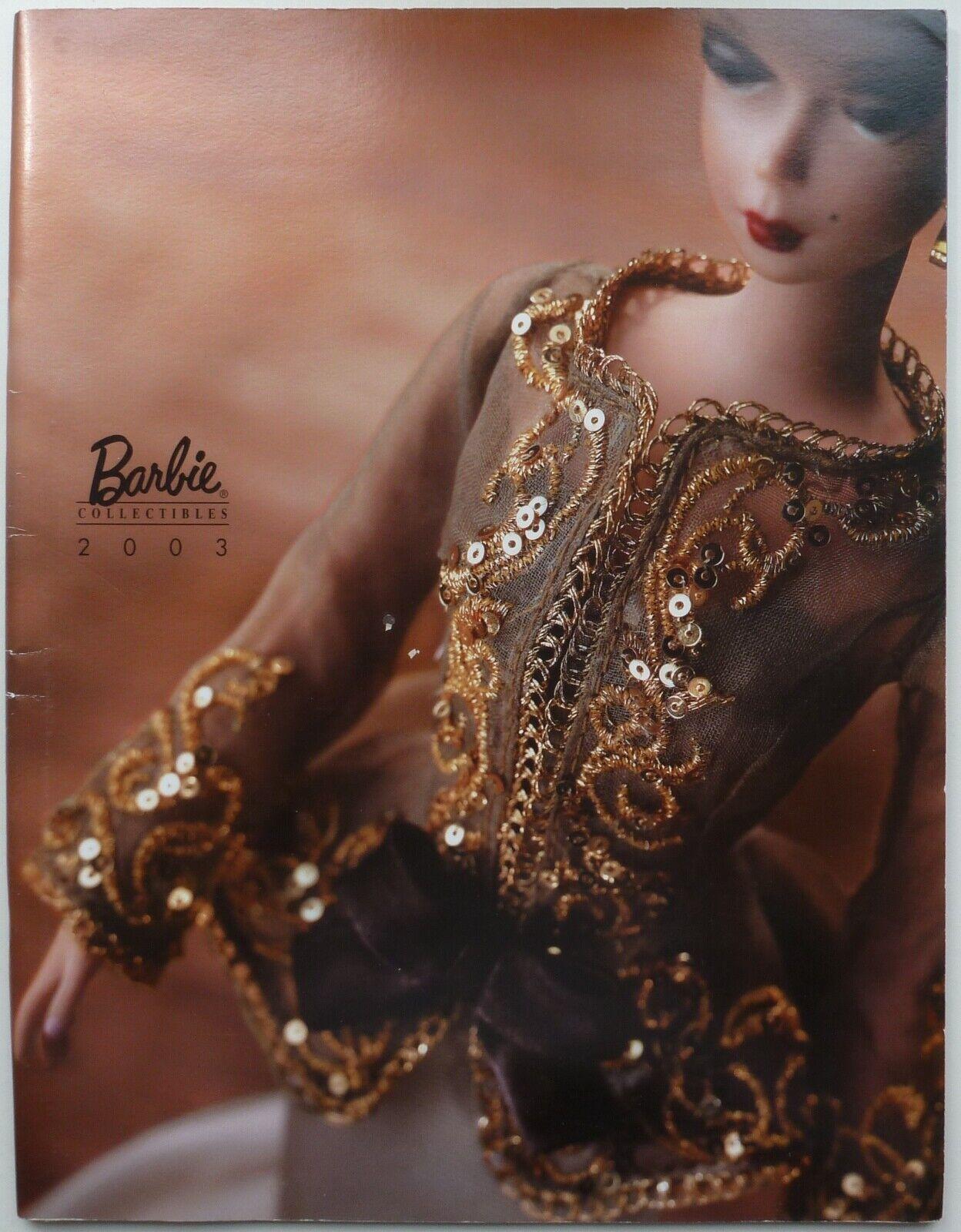 2003 SUPER RARA GRANDE SILKSTONE Barbie Doll CATALOGO. NUOVO ottime condizioni.