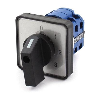 UI 660 V vec 20 A sélecteur rotatif 0-3 position Changeover Cam Switch