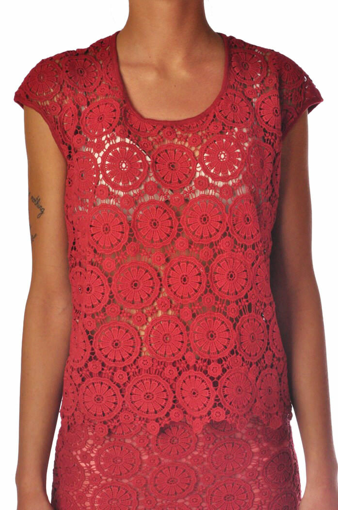 Mercì - Topwear-T-shirts - woman - ROT - 822918C184438