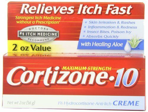 5 Pack Cortizone10 Maximum Strength AntiItch Creme with Aloe 2 oz Each