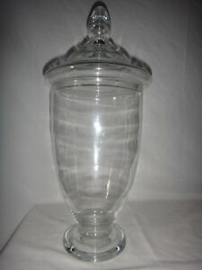 Image Is Loading Large Antique Free N Gl Apothecary Jar Candy