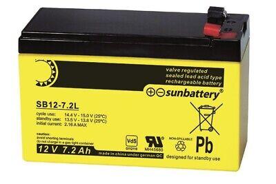 Akku Battery Sb12-7.2 (12v / 7.2ah) Blei-vlies-akku (agm)