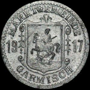 Mutig Notgeld: 5 Pfennig 1917. Funck 152.1b. Marktgemeinde Garmisch / Bayern. Elegant Im Geruch