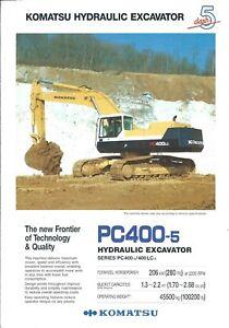 Equipment-Brochure-Komatsu-PC400-5-Excavator-c1990-E4954