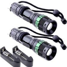2X Ultrafire 2000Lumen Zoom CREE XM-L T6 LED Taschenlamp 18650 Ladegerät US Plug