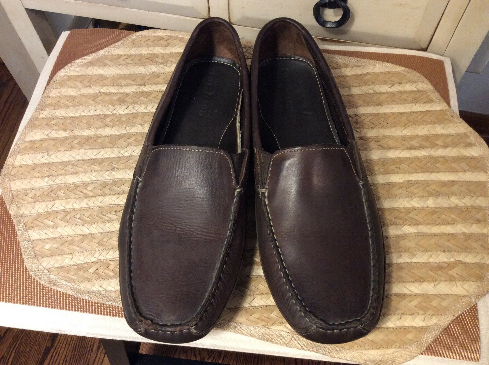 TURTLESON 10580736 herren braun LEATHER LEATHER LEATHER DRIVING slip on LOAFERS Größe 12 41d143
