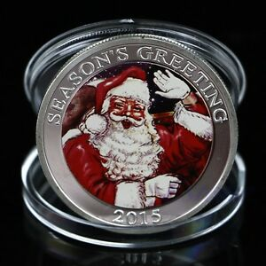 Seasons-Greetings-Silver-Plated-Commemorative-Coin-Merry-Christmas-Collection