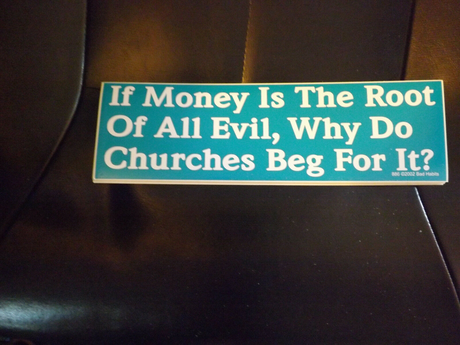Send Money To Annoy Me I/'ve Taken a Vow of Poverty Funny Bumper Sticker