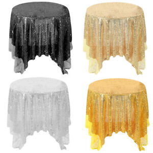 DIY Square Sequin Tablecloth Round Table Runner Wedding ...