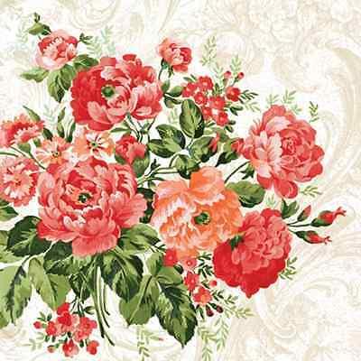 Carta Decoupage Shabby Chic.20 Tovaglioli Di Carta Untamed Rose Decorazione Decoupage Shabby