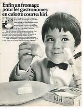 PUBLICITE ADVERTISING  1968   KIRI  fromage à tartiner