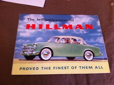 1959 Hillman Minx Sedan Und Cabrio Farbe Broschüre Prospekt
