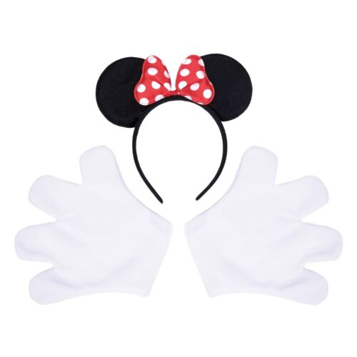 Stag Party Outfit Gloves Ladies Mouse Halloween Fancy Dress Costume Kit Ears