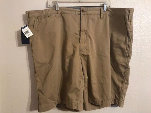 Size: 48W x 10L Men/'s POLO RALPH LAUREN Classic Fit Flat Front Khaki Shorts