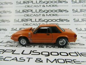 Greenlight-1-64-LOOSE-Orange-1987-FORD-MUSTANG-LX-5-0-Foxbody-Drag-Racer