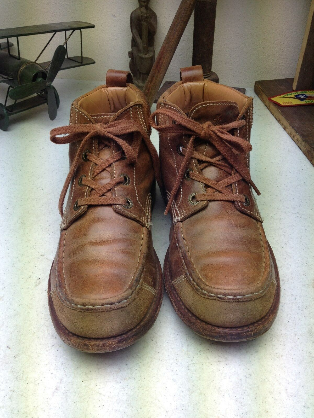 DR. MARTENS BROWN LEATHER LACE CHORE UP ENGINEER MOTORCYCLE ANKLE CHORE LACE BOOTS SIZE 8 D 58fe05