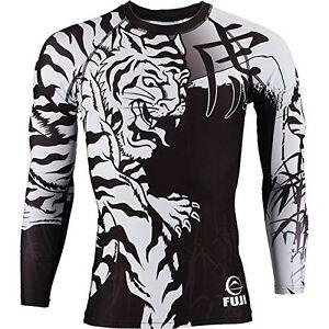 New Fuji Inverted MMA BJJ Jiu Jitsu ShortSleeve Short Sleeve SS Rashguard  Black Uniforms & Gis