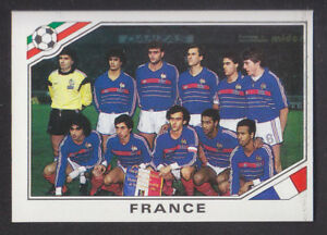 Panini-Mexico-86-World-Cup-165-France-Team-Group