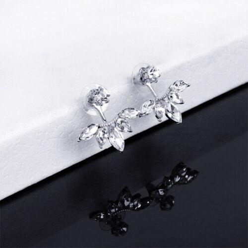 1 Pair New Fashion Women Lady Elegant Crystal Rhinestone Ear Stud Earrings Charm