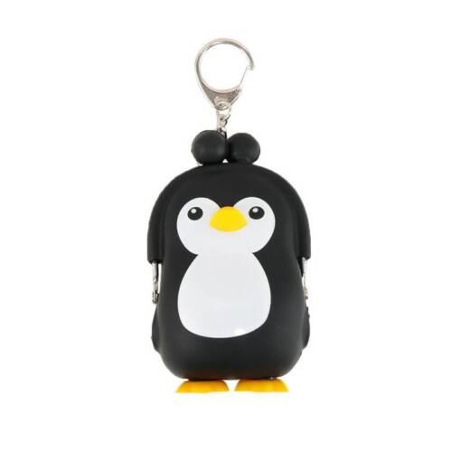 Mignon Silicone Penguin 3D Wallet Cartoon Purse Keys Coin Sac Pour Enfants Cadeau