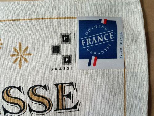 Details about  / French Screen Print Tea Towel Torchons /& Bouchons VIOLETTE de GRASSE
