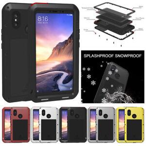 buy online 463bf 1bcdb Details about LOVE MEI Waterproof Shockproof Metal Glass Cover Case For  Xiaomi Mi Max 3 Mi 8