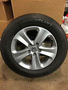 honda odyssey lx ex l van 17 aluminum wheel rim continental 235 65 r17 tire. Black Bedroom Furniture Sets. Home Design Ideas