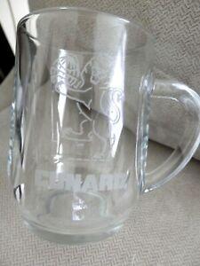 Cunard-Logo-Glass-Mug-Luxury-Cruise-Ships-Ocean-Liners-EUC
