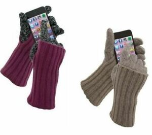 Grandoe-Women-039-s-Cashmere-amp-Lambswool-Warmtouch-Touchscreen-Knit-Gloves