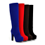 Hot-Ladies-Faux-Suede-Platform-High-Block-Heel-Zip-Knee-High-Boots-Shoes-Sizes-F thumbnail 1