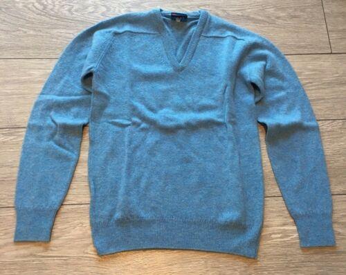 Paramount laine d/'agneau bleu col V Pull-Petit 91 cm pure laine vierge