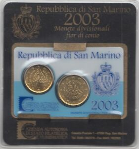 Mini Coffret BU Euro Saint Marin 2003