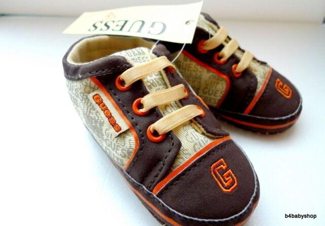 NWT Brown/ Orange Baby Boy slip-on Sneakers 0-6M/6-12M/12-18M -3 sizes