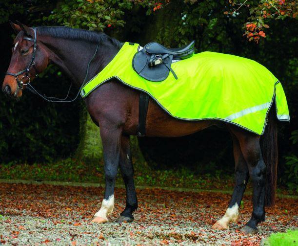 Horseware Amigo Reflectante competencia HOJA FLUORESCENTE HiViz Alfombra de ejercicio S-XL