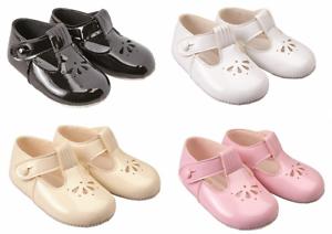 Shoes-baby-girl-pram-soft-BAYPODS-T-bar-black-pink-white-cream-Early-Days