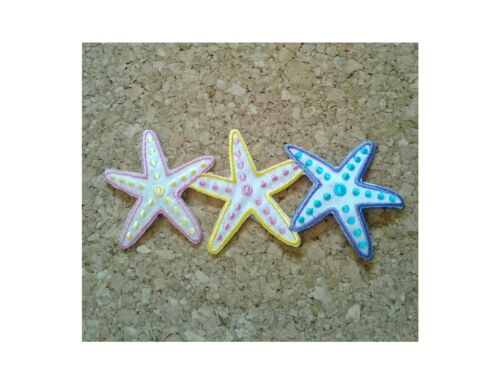 "4 5//8/"" WIDE Beach Summer Iron On Applique Patch Seashells Starfish"