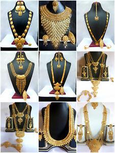 Necklace-22K-Gold-Plated-Indian-Designer-Variation-Necklace-Earrings-party-Set-d